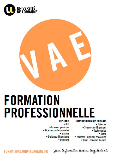 Plaquette Validation des Acquis de l'Expérience - Université de Lorraine